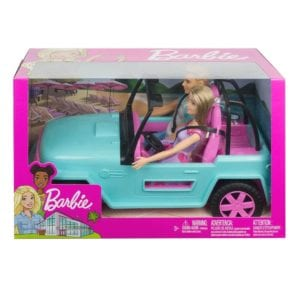 Auto de Playa Barbie y ken