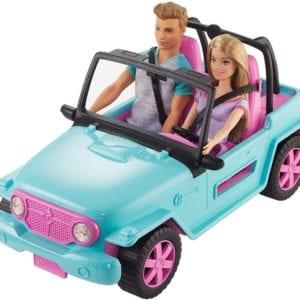 Auto de Playa Barbie y ken
