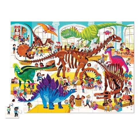 Rompecabezas 48 Day at the museum dinosaurios