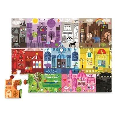 Rompecabezas de 24 piezas color city