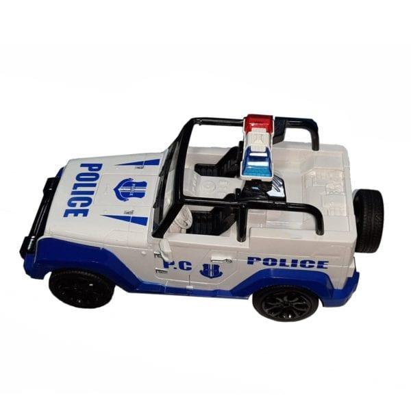 transformer carro de policia a control