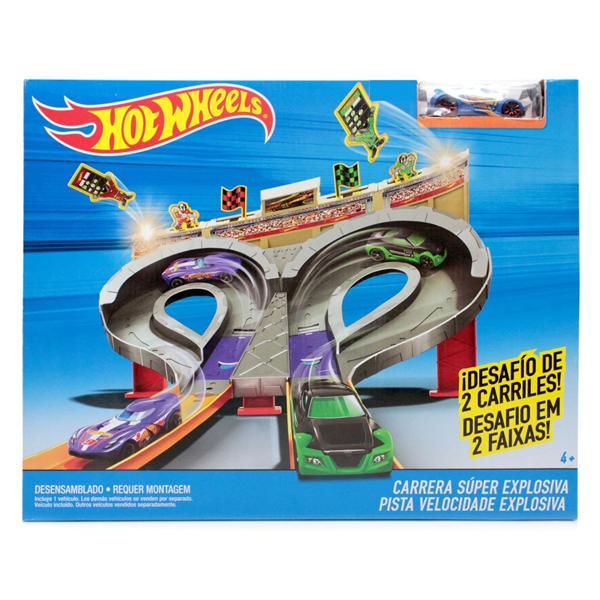 pista hot wheels carrera superexplosiva