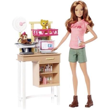 barbie muñeca veterinaria articulada