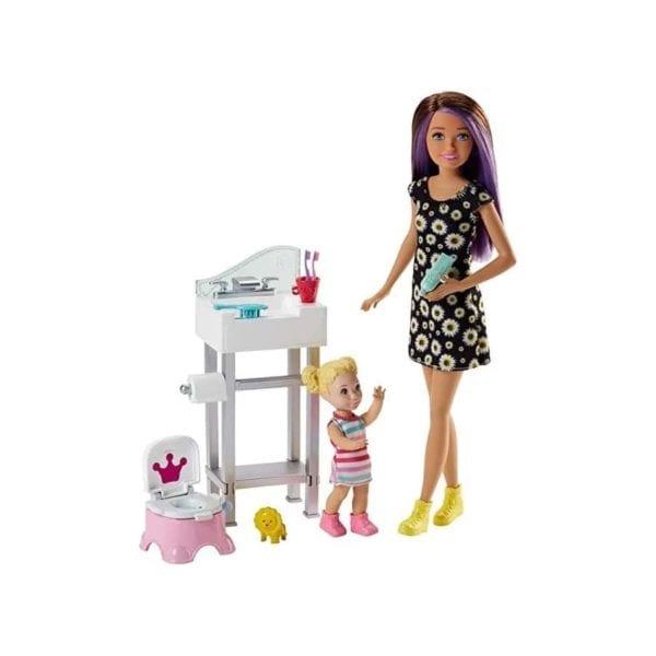 barbie niñera skipper
