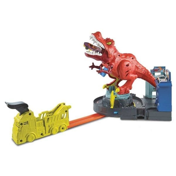 pista hot wheels t-rex