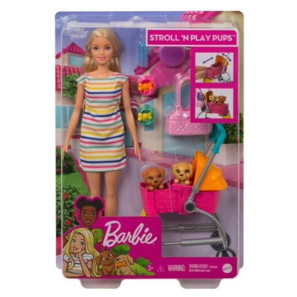 Barbie Carriola de Perritos