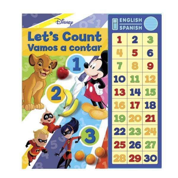 Libro Disney Mickey, Vamos a Contar! en Inglés y Español