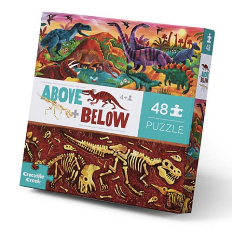 48 PC ABOVE & BELOW/DINOSAUR WORLD