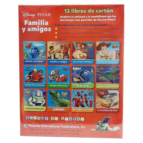 disney pixar familia y amigos 12 libros de carton