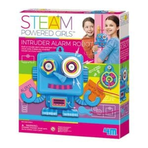 INTRUDER ALARM ROBOT-GIRL STEAM