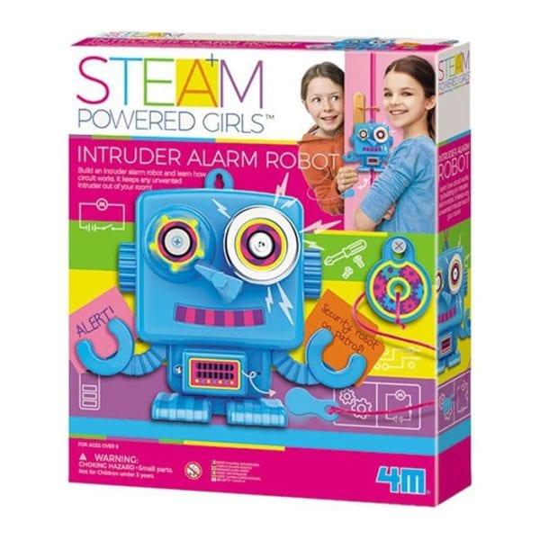 INTRUDER ALARM ROBOT-GIRL STEAM