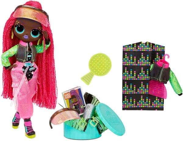 Comprar LOL Surprise OMG Dance Dance Virtuelle Fashion Doll con 15 sorpresas incluyendo luz negra mágica, zapatos, cepillo para el pelo, soporte para muñeca y paquete de TV Colombia