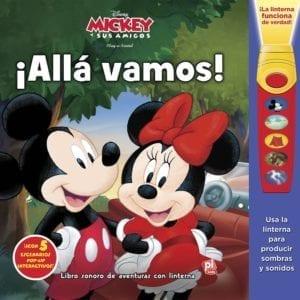 Libro Mickey y Sus Amigos ¡Alla Vamos ! con Linterna