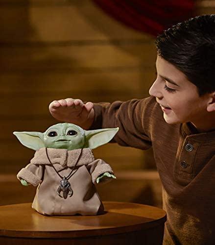 Baby Yoda Animatronic Con Movimiento Y Sonido Original De Hasbro