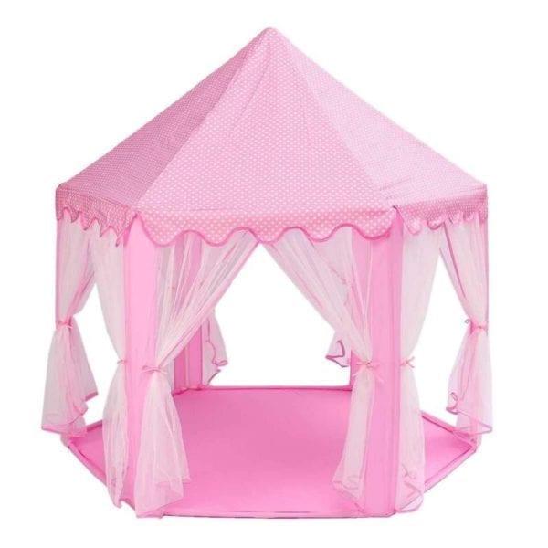 Carpa Infantil Castillo Princesa Rosada