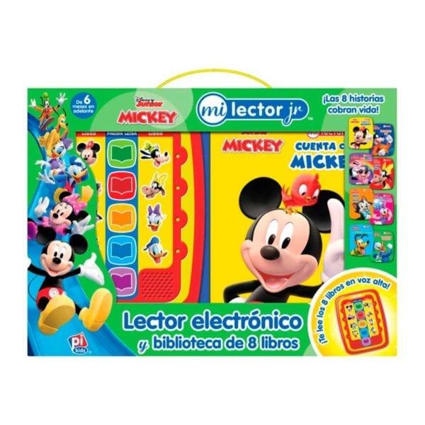 Disney Junior Mickey Lector Electrónico y Biblioteca de 8 Libros
