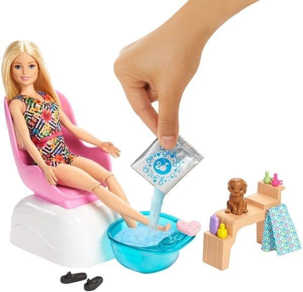 Barbie Salón Y SPA De Manicura Y Pedicura