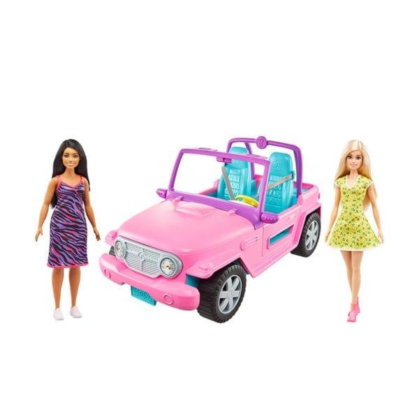 Jeep De La Barbie Con Muñecas
