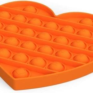 Pop It Corazón Naranja